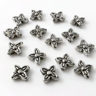 100 Tibetan Silver 7mm Spacer Beads